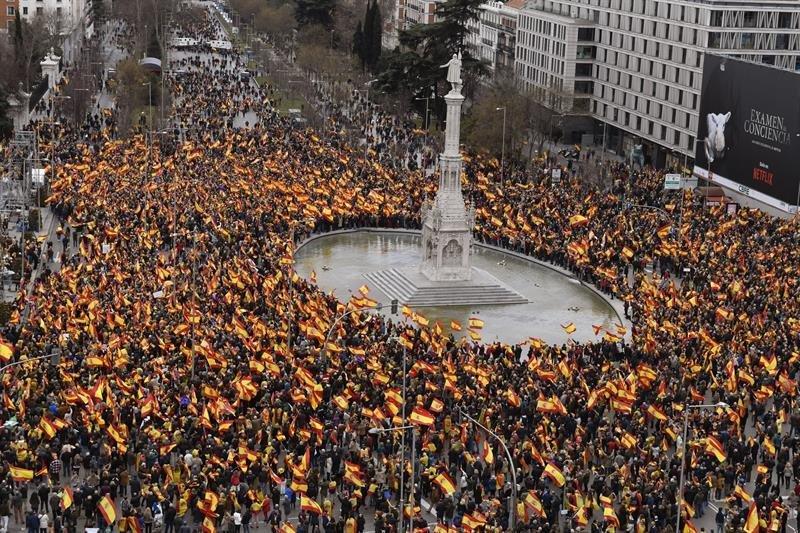 Concentración convocada por PP, Ciudadanos y VOX