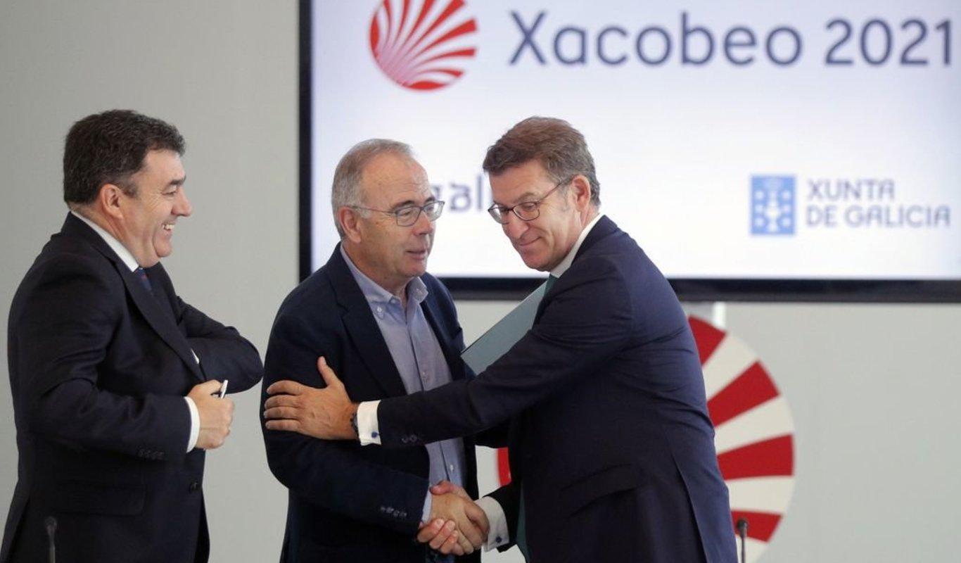 """Bugallo """"intenta xunto a Ines Rey """" facerlle a campaña política para a  reelcción a Feijoo e informa que lle vai financiar o Xacobeo 21 que  publicita Mar Sánchez nos seus comunicados. -"""