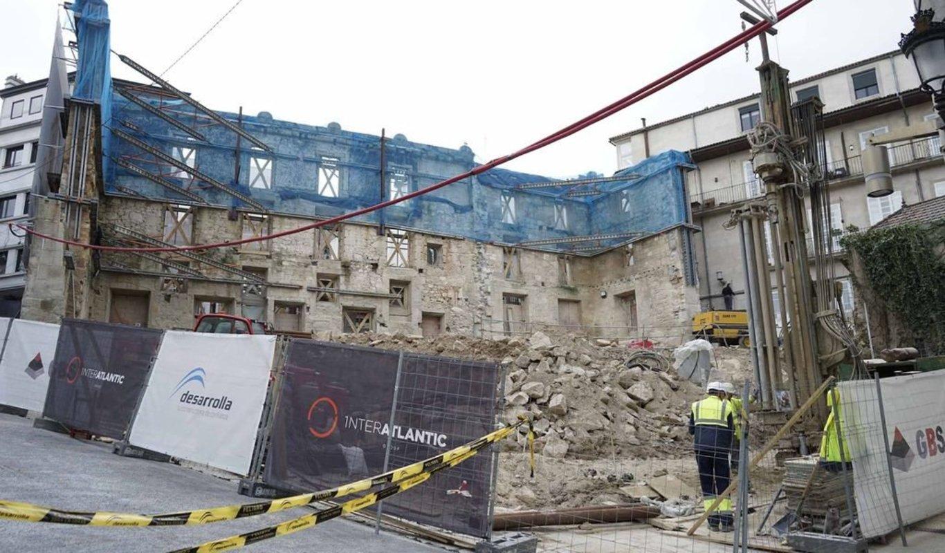 El Palacio del Marqués de Valladares, el mayor edificio histórico en proceso de rehablitación en el Casco Vello. Abriría en 2021.