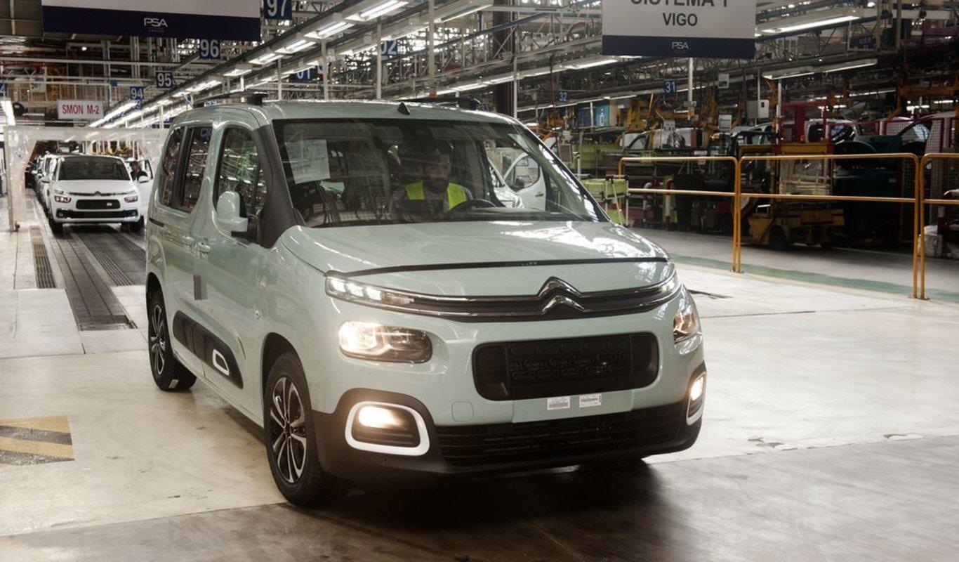 La tercera generación del Citroën Berlingo empezó a fabricarse a finales de 2018.