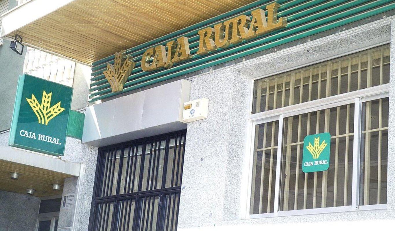 Sucursal bancaria en el rural español.
