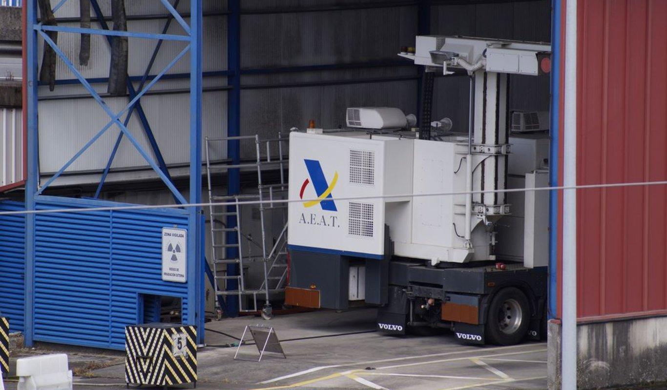 El escáner especial montado por el Gobierno de Estados Unidos para poder exportar a Norteamérica desde Vigo.