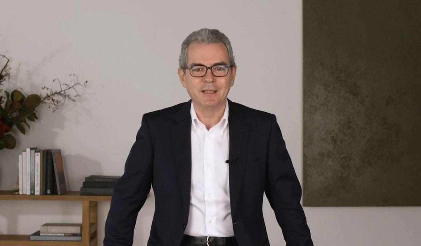 El presidente del grupo Inditex Pablo Isla, en el mensaje navideño de este año 2020 dirigido a sus empleados.