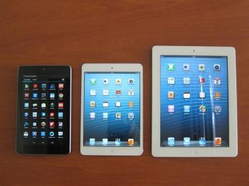 Probamos el iPad mini y lo ponemos frente al iPad de cuarta ...