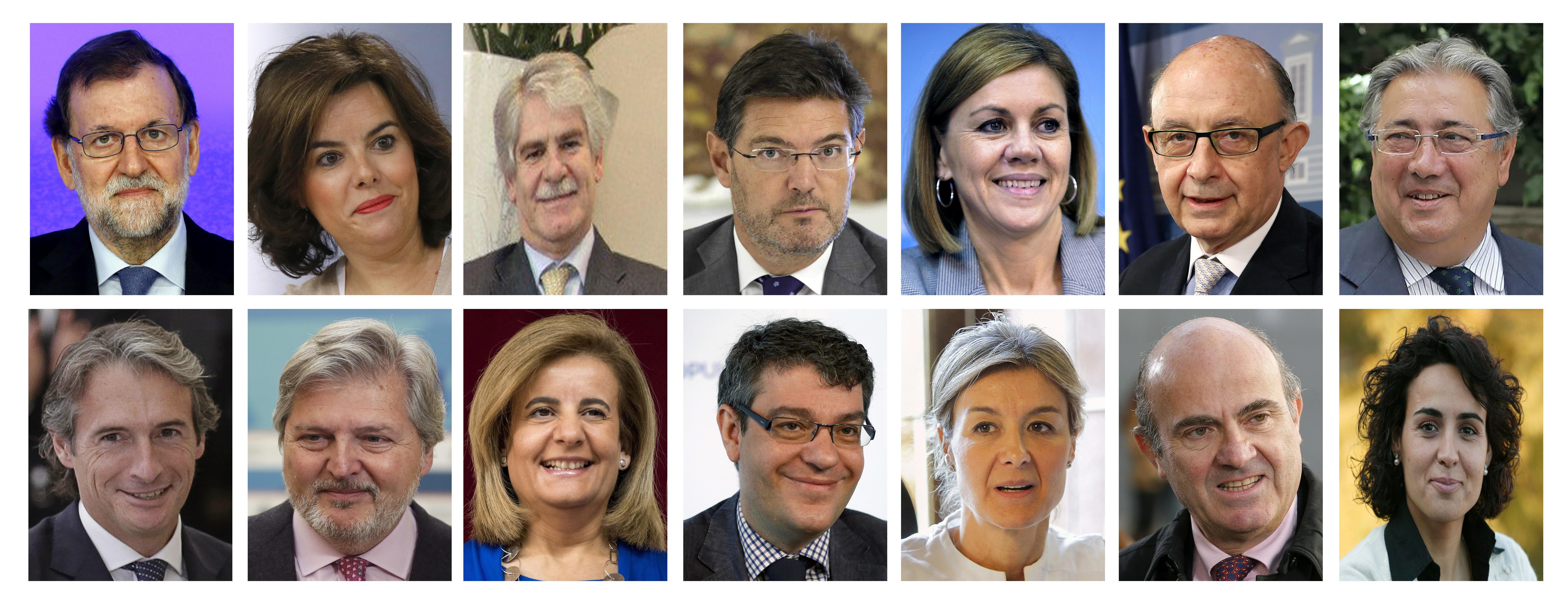 Rajoy nombra un gobierno con seis nuevos ministros for Ministros del gobierno