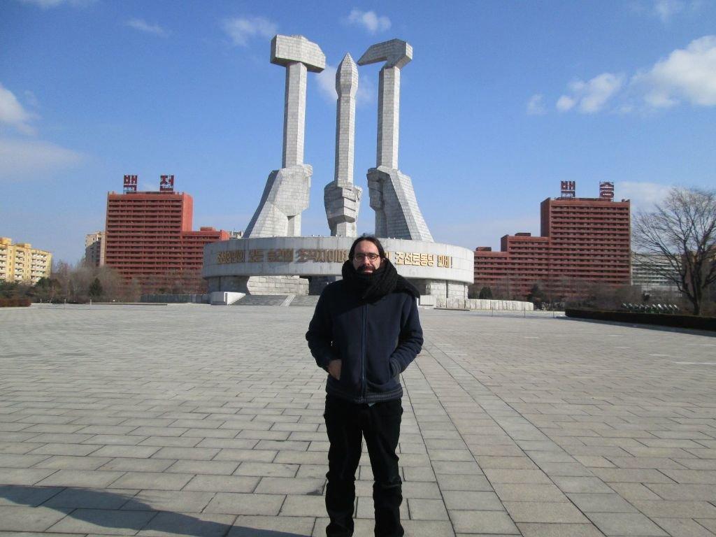 Una imagen de su viaje a Corea del Norte.