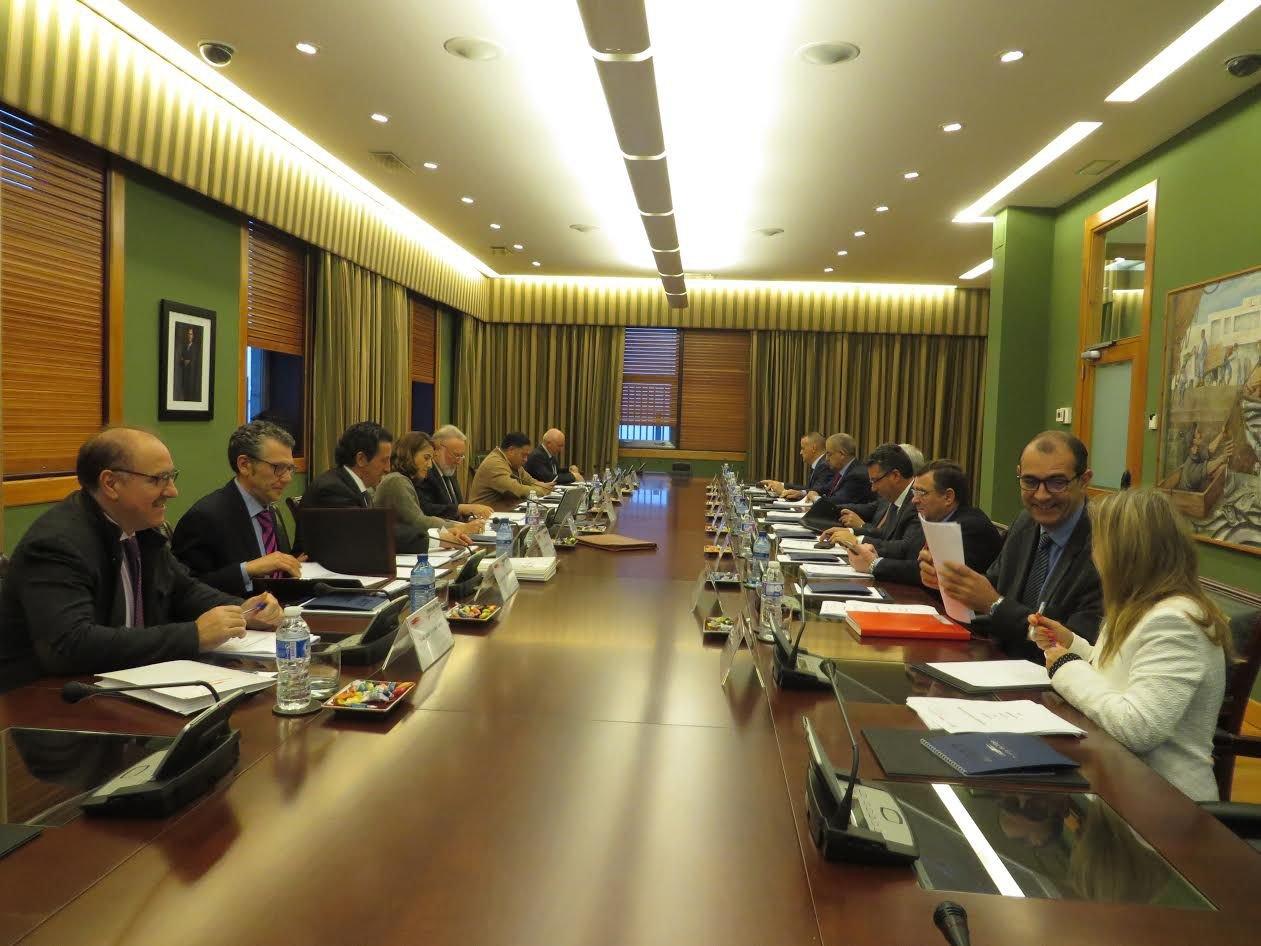 El último consejo de administración del Puerto, celebrado ayer.
