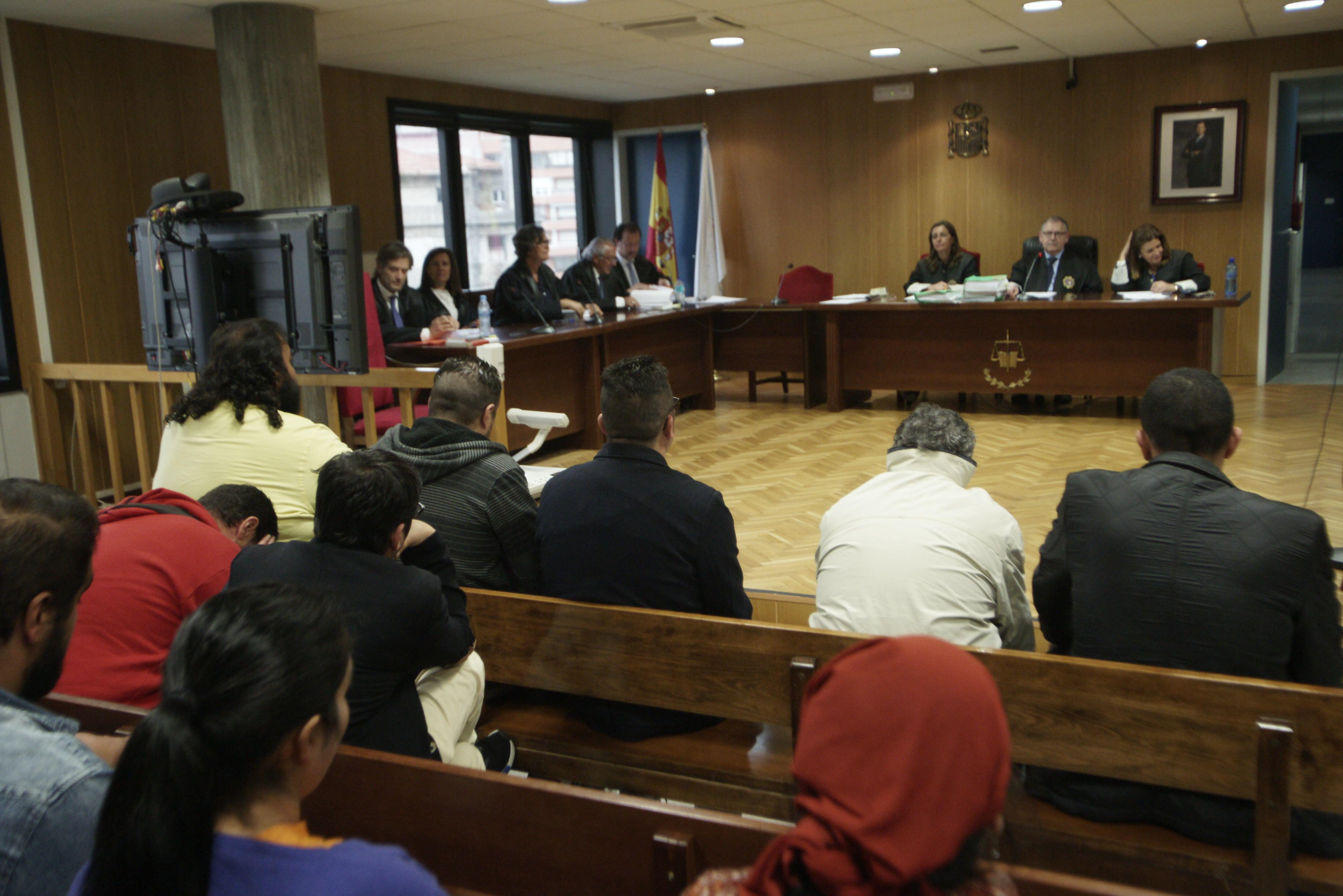 Policía Nacional y guardias civiles declararon ayer en la tercera sesión del juicio.