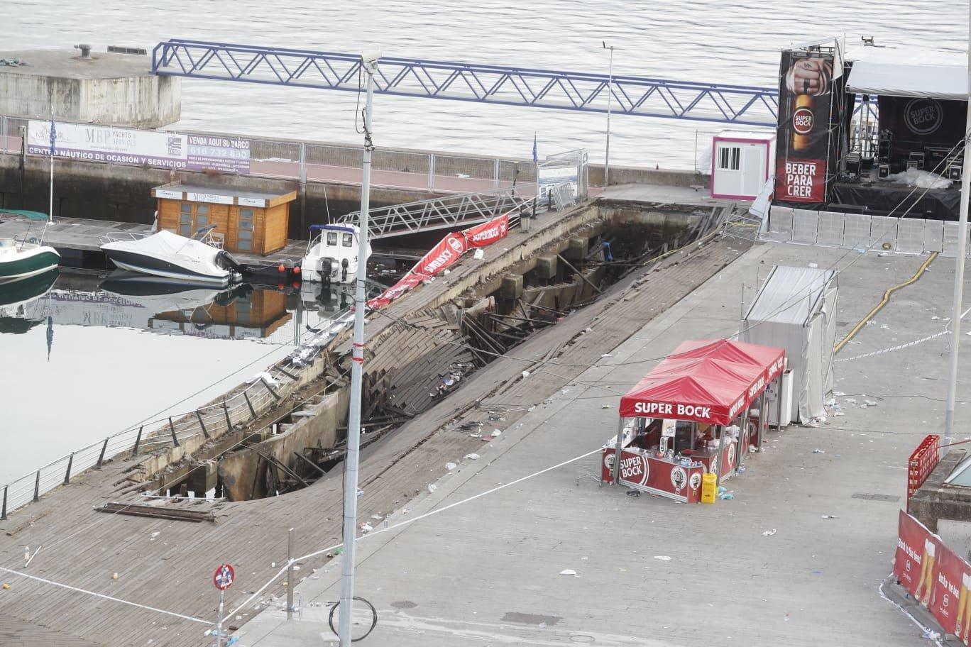El derrumbe del puerto de Vigo abre una crisis política local
