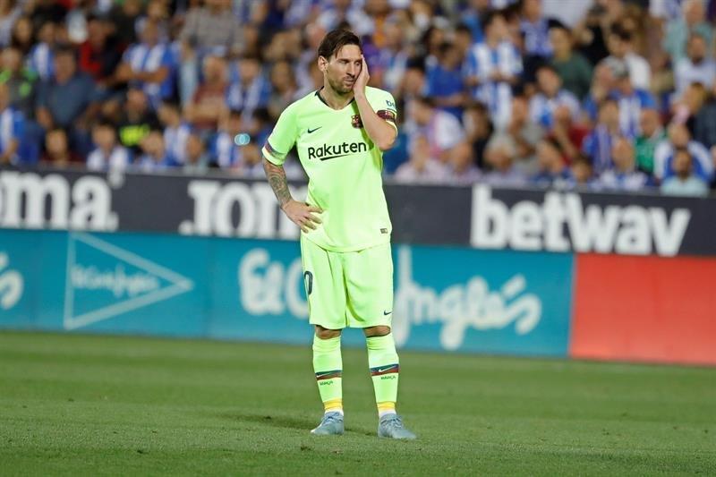 Barcelona perdió el invicto en la derrota ante Leganés