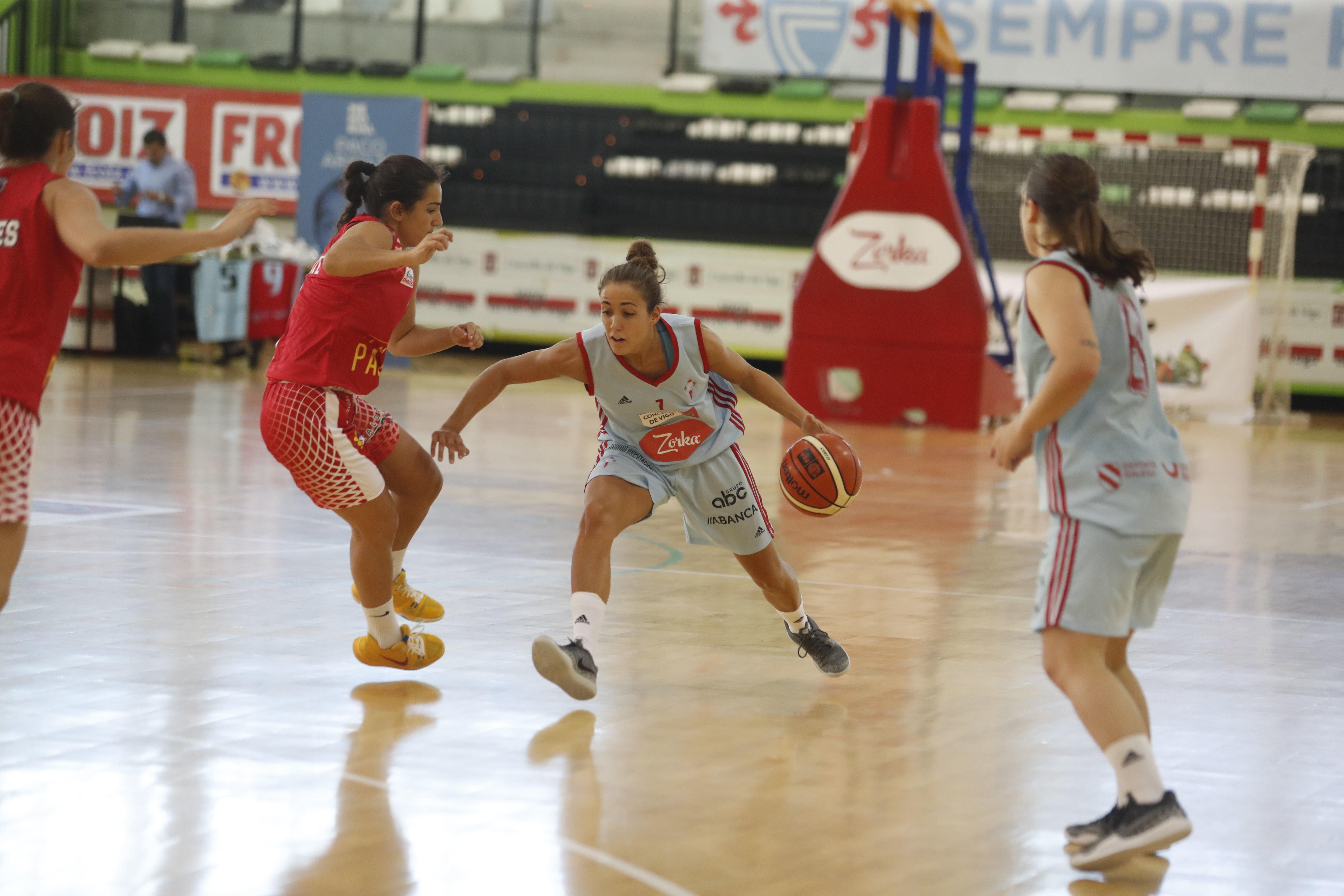 Tamara Montero, en un partido con el Celta Baloncesto (Foto: Atlántico).