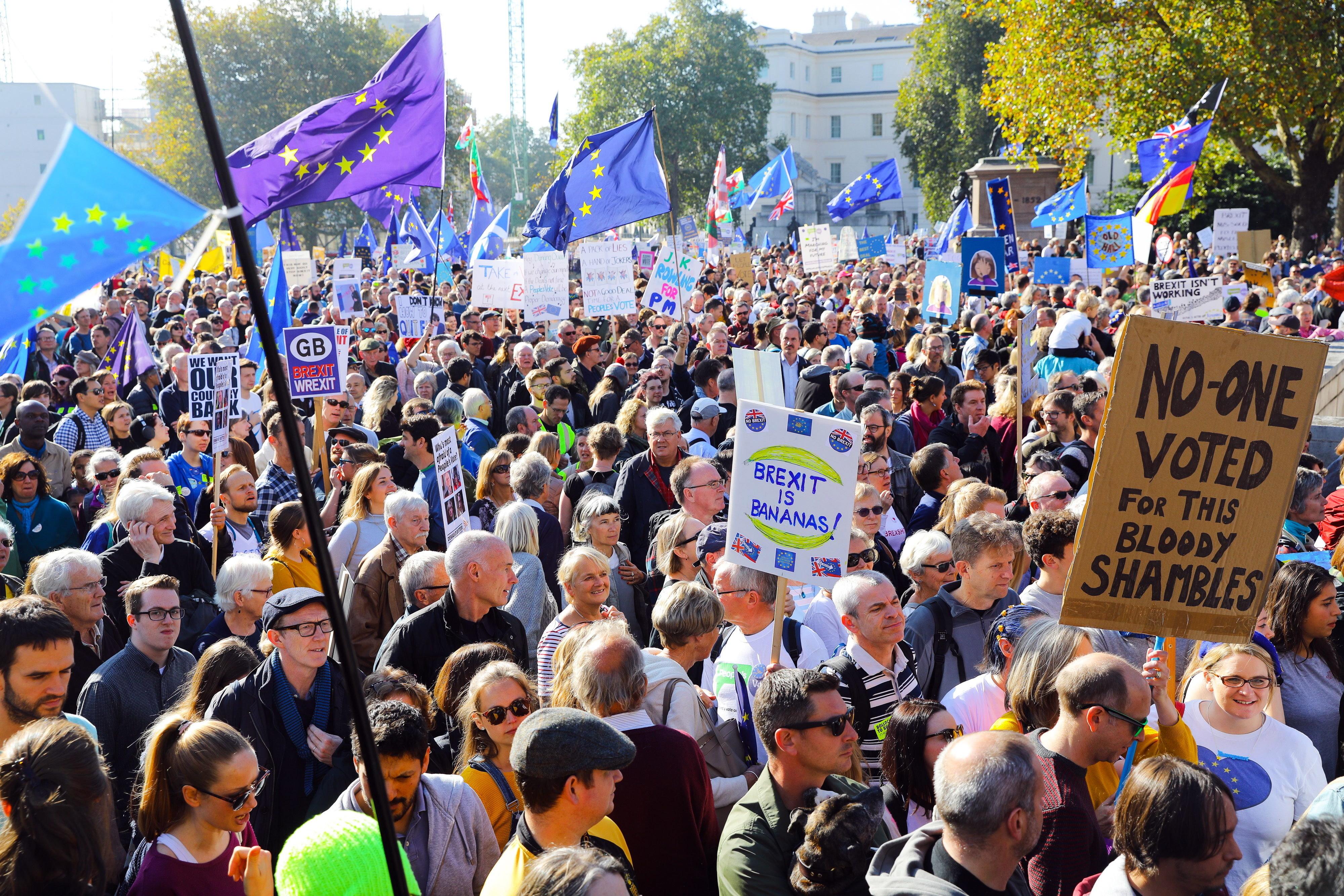 Ciudadanos protestaron en Londres para pedir nuevo referéndum del