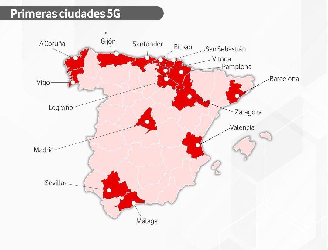 Mapa De Cobertura Vodafone.Vodafone Lanza En Vigo Su Red 5g Clave Para El Coche Autonomo