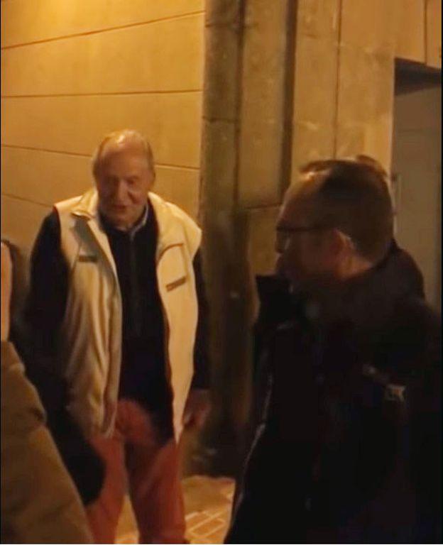 Juan Carlos I saliendo del Choko de Ronda de Don Bosco.